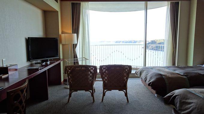 全9種類の客室は海側の部屋がお勧め