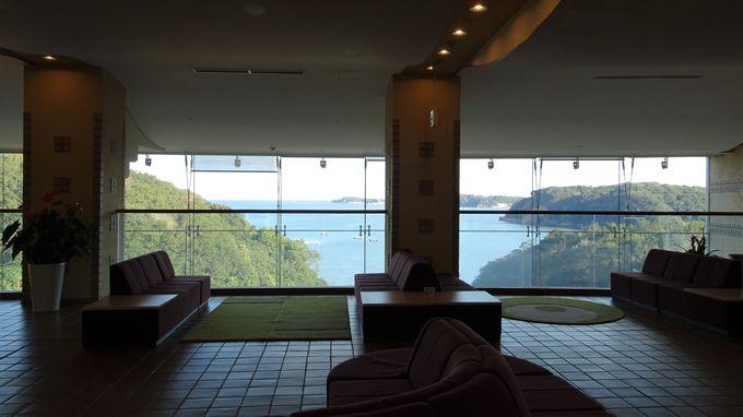 岬の先端のシーサイドホテルは自然がいっぱい