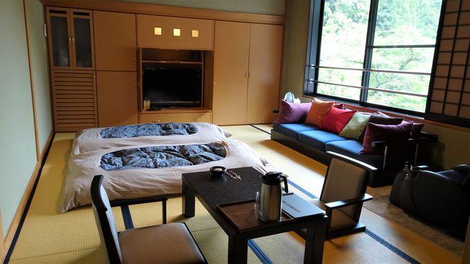 客室は4タイプでお勧めは庭の見える部屋