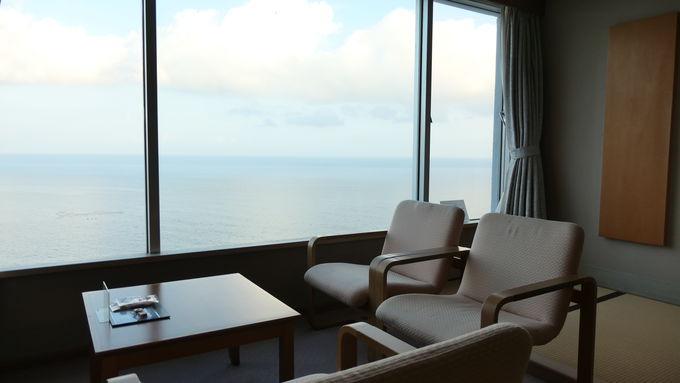 どの部屋からも広がる駿河湾の眺望に感激
