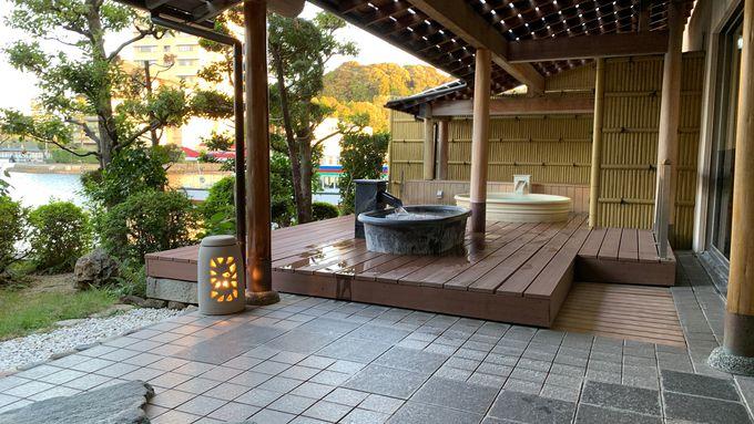 温泉施設はタイプが違ったお風呂が3種類