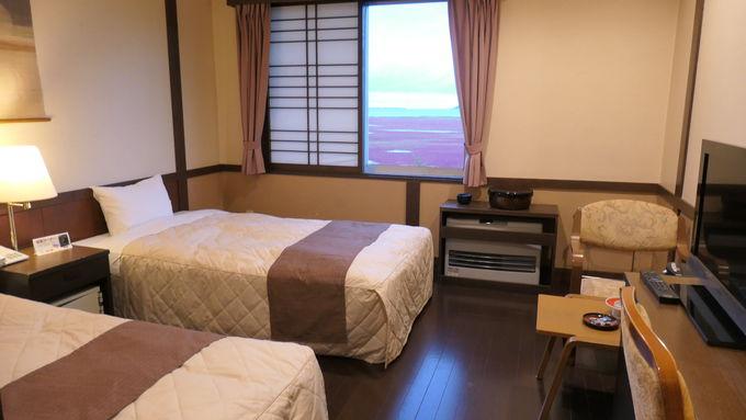 客室は能取湖が見える部屋がお勧め