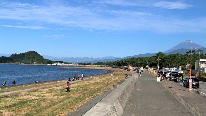目の前は日本の渚百選に選ばれた美しい海岸