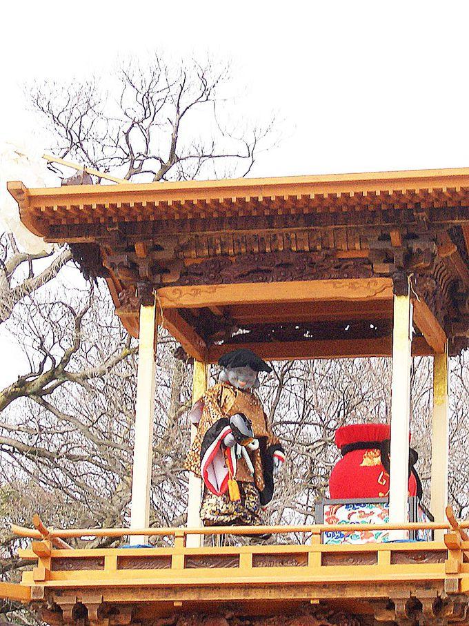 江戸時代から続く伝統ある山車の「奉納からくり人形」