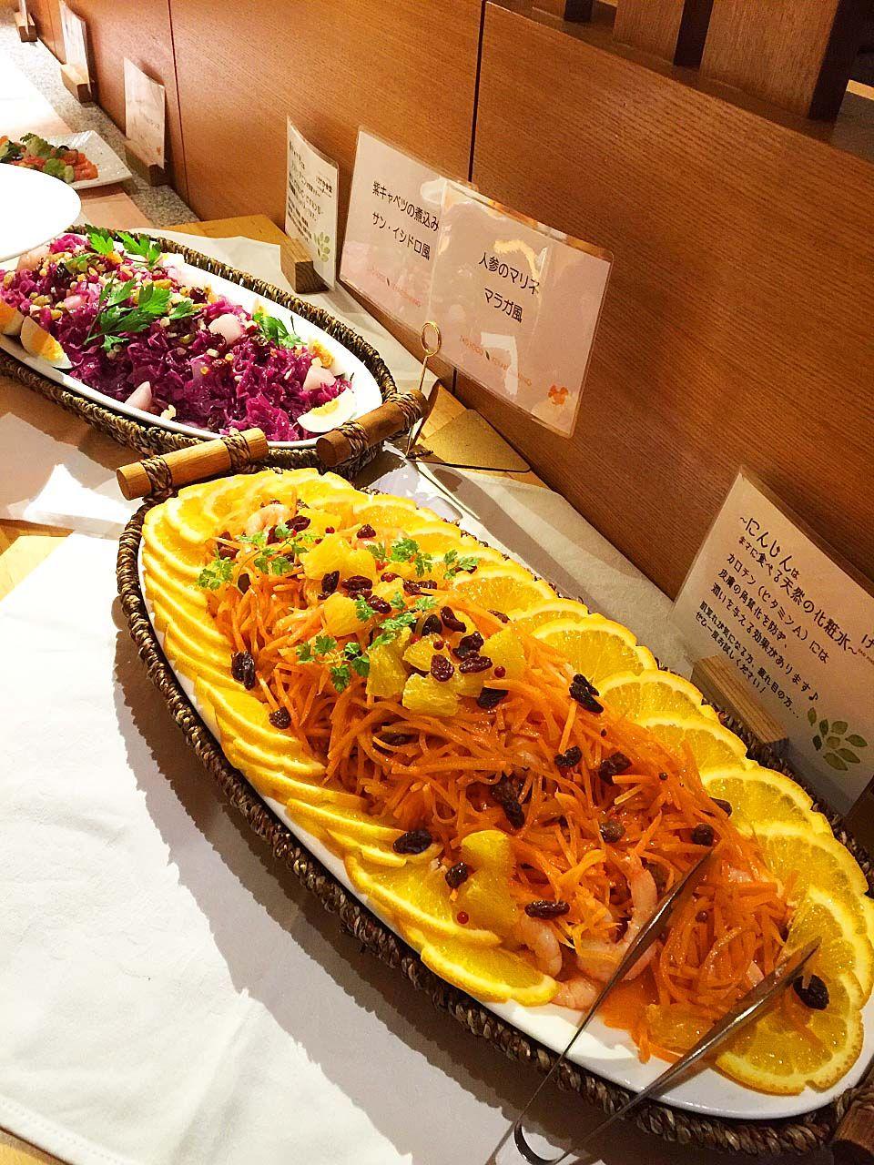 カラダの中からキレイになろう!野菜が美味しいビュッフェスタイル