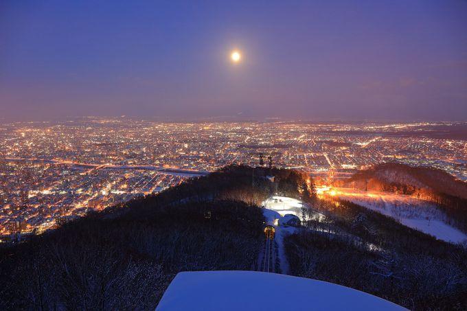 北海道最大級の夜景「藻岩山」