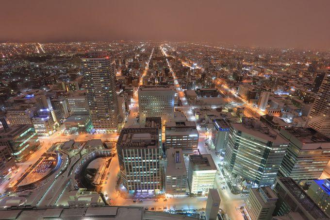 札幌の中心から夜景を眺める「JRタワー展望室T38」