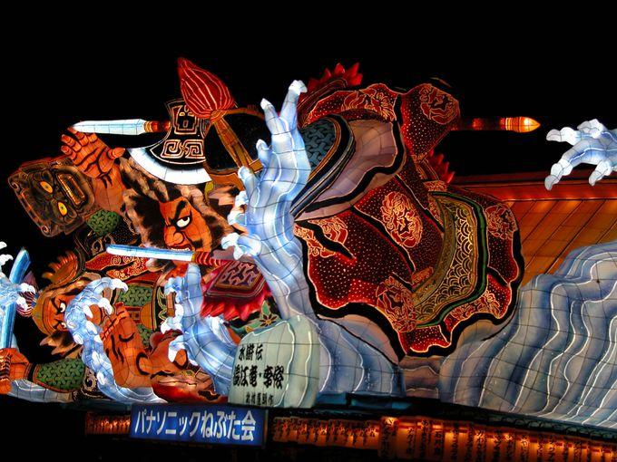 毎年、延べ300万人以上の観光客が訪れる青森ねぶた祭り