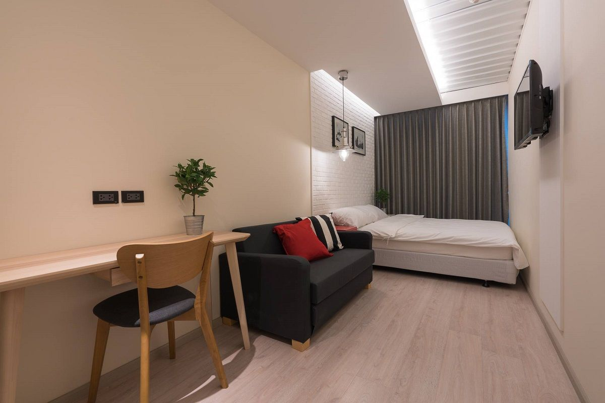 好みで選べる広い個室と、プライベートが保たれるドミトリー