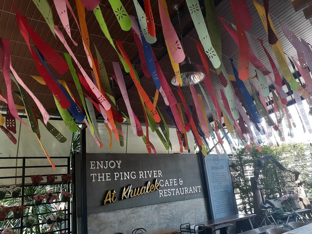 ピン川のかわいいリバーサイドレストラン