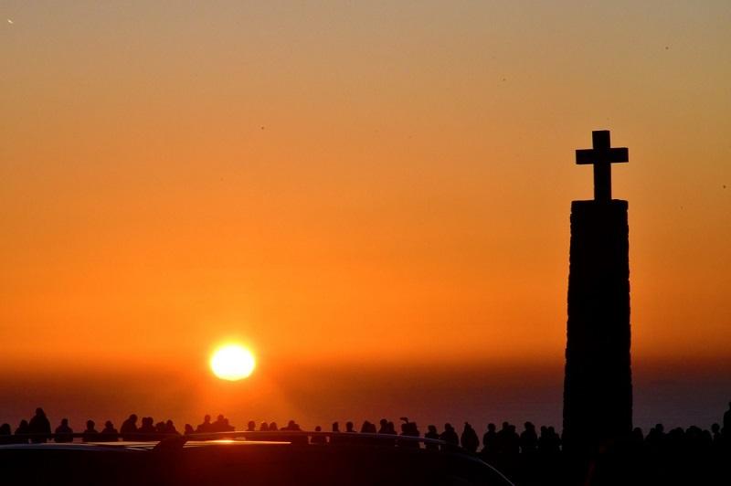 ポルトガル・ユーラシア大陸最西端「ロカ岬」で見る夕日