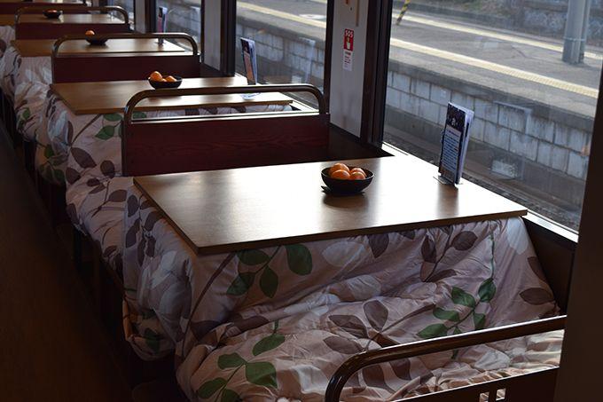 こたつ列車で三陸海の幸となもみ!?を楽しむ「三陸鉄道・北リアス線」