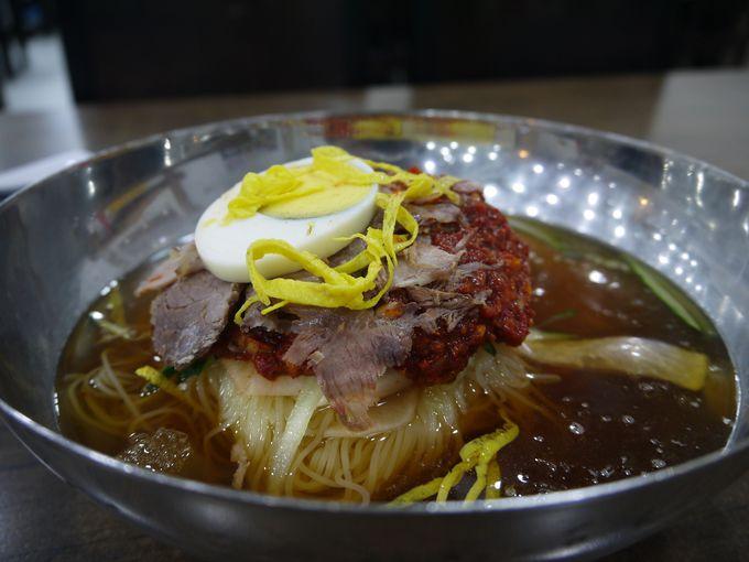 釜山の名物料理「ミルミョン」もオススメ