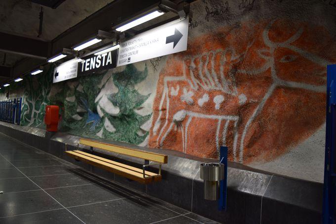 自然と動物、愛がテーマ!Tensta駅