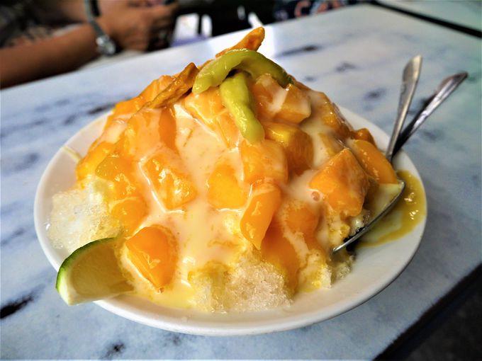 デザートはやっぱりマンゴーかき氷