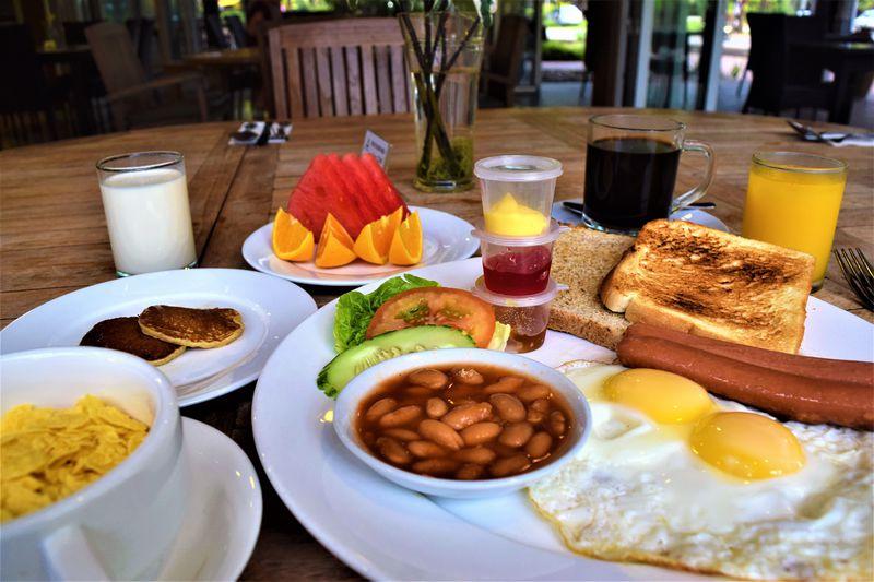 ボリューム満点!リゾート気分で食べる朝食