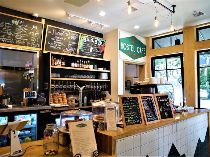 カフェも併設!朝食付きの嬉しいサービス