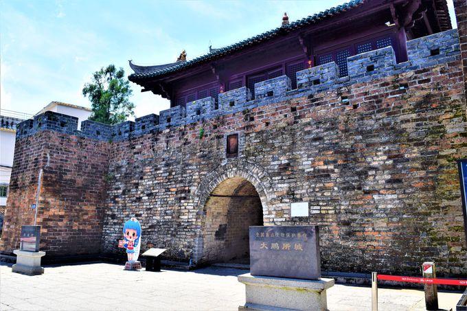 城壁に守られた「大鵬所城」