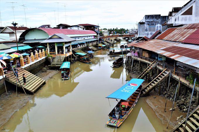 水上都市アンパワーのマーケット