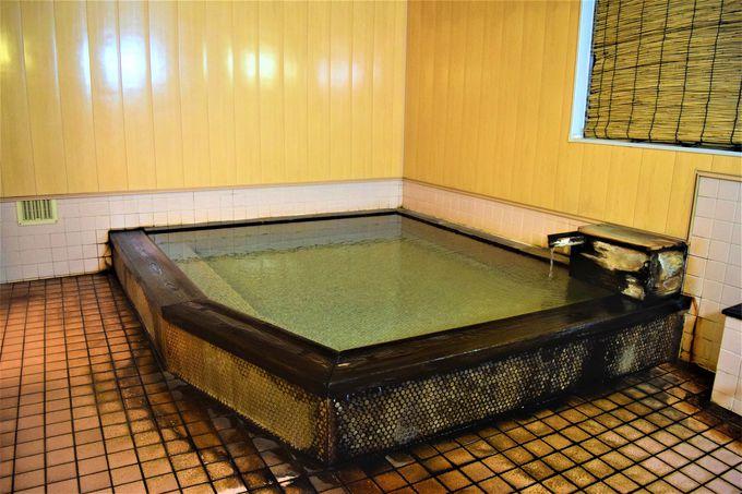 貸切風呂も!古山閣の温泉を利用