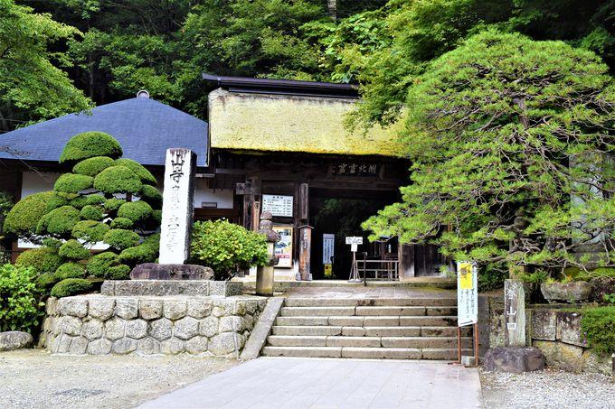 麓にある歴史ある本堂「根本中堂」と「山門」