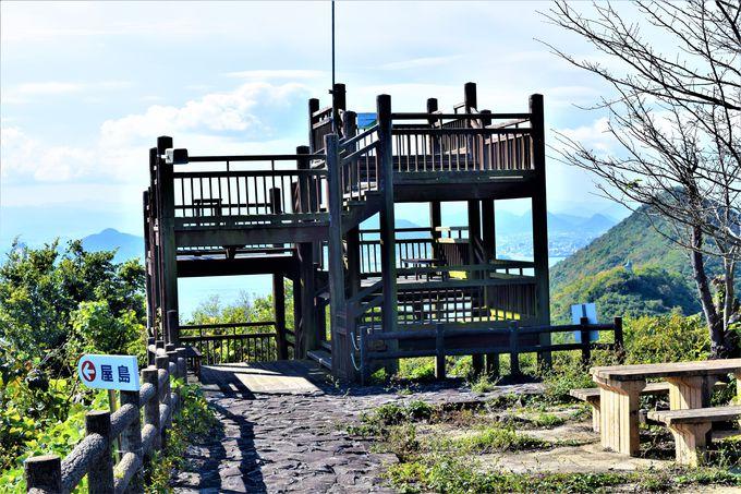 360度の景色が見渡せる!「鷲ヶ峰大展望台」