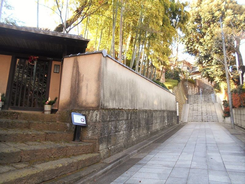 アプローチから雰囲気満点!美しい坂のある景色を愛でながら、林芙美子記念館に入場