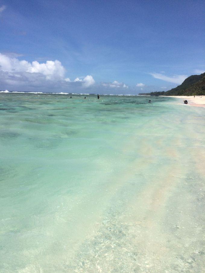 美しいビーチがお出迎え