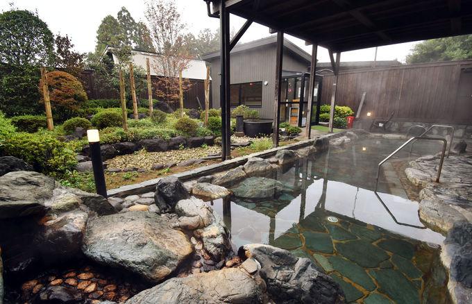温泉施設「かりんの湯」でゆったり疲れを癒す
