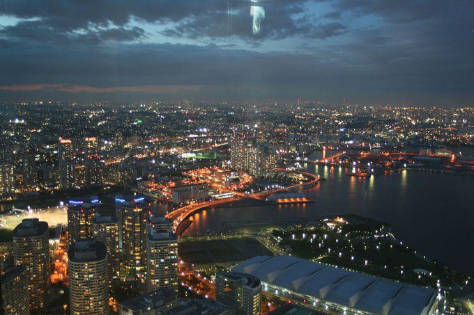 横浜の夜景を見下ろすならランドマークタワースカイガーデン