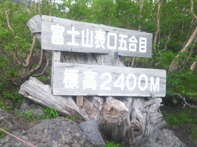 スタートは標高2400メートルの五合目
