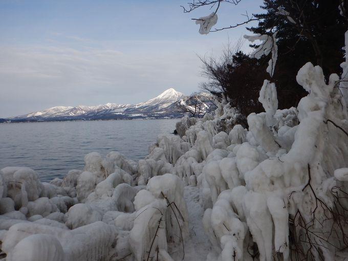 8.しぶき氷(猪苗代湖)/猪苗代町