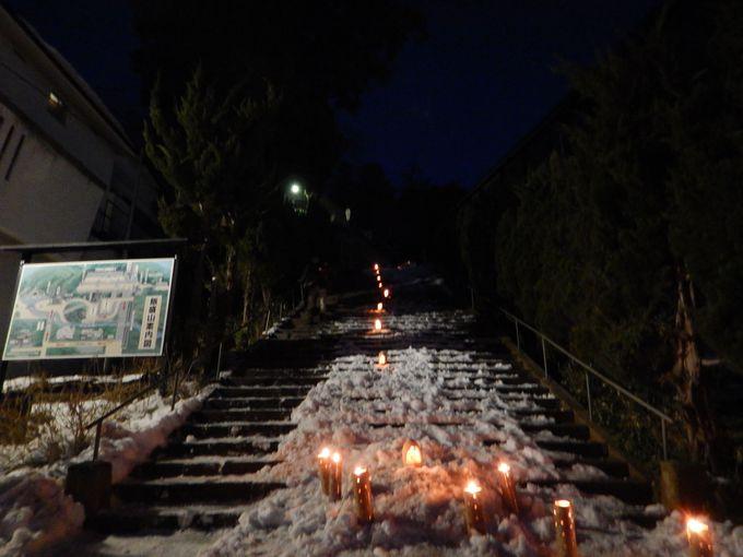 毎年2月に「会津絵ろうそくまつり」市内各所で開催