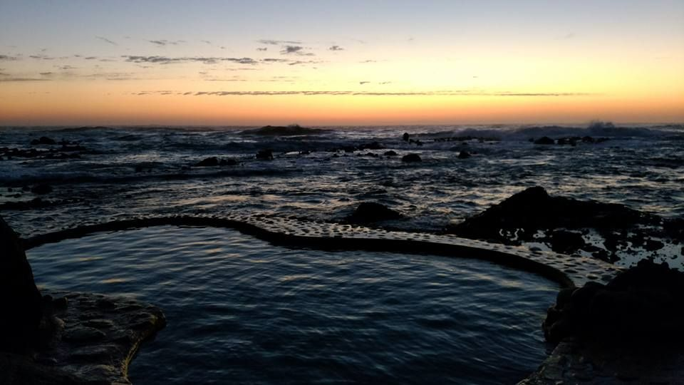 波打ち際にある野趣あふれる露天風呂