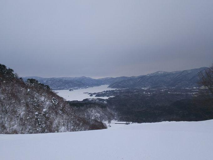 裏磐梯スキー場からアプローチ