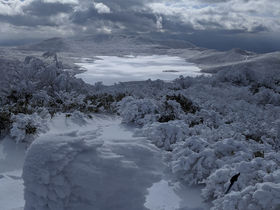 福島・裏磐梯「雄国山」雪山ネイチャーハイクで雪の芸術を堪能!