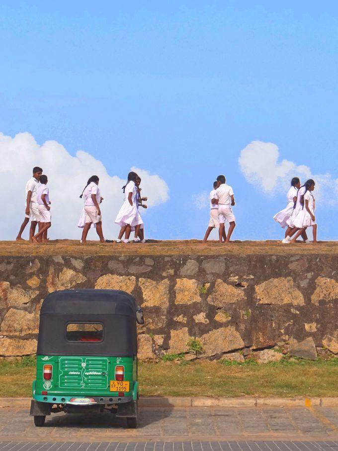子供達が闊歩するインド洋の砦