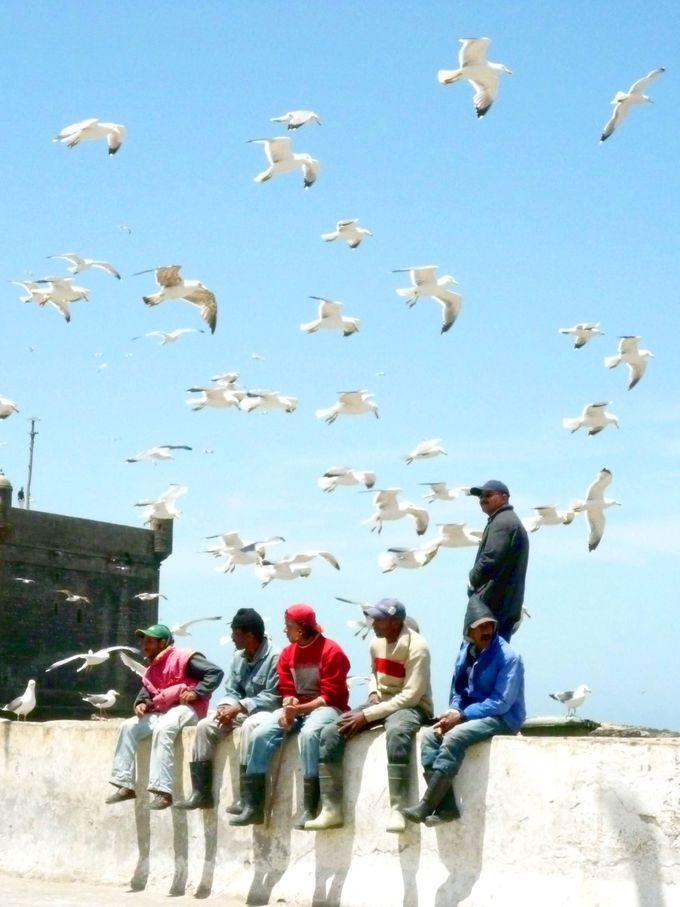 アラブの国の漁師町