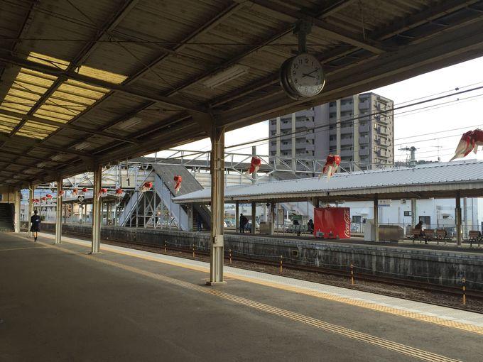旅のスタートはJR柳井駅。国鉄時代を思い出させる懐かしい駅です。