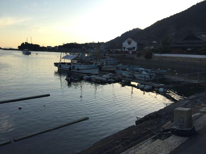 いよいよ、鞆の浦のランドマーク・鞆の津の港へ。