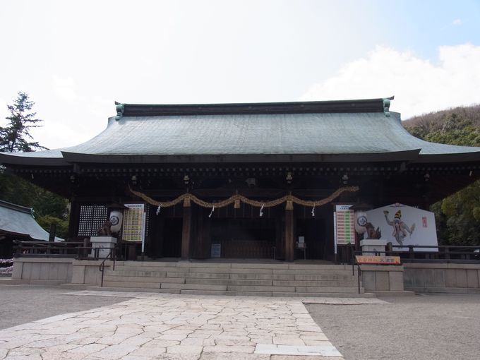「朝日の宮」吉備津彦神社。