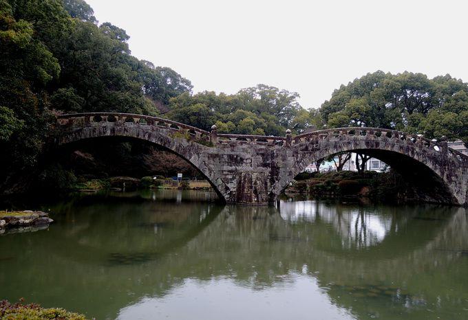 日本初!石橋で重要文化財になった諫早公園の眼鏡橋