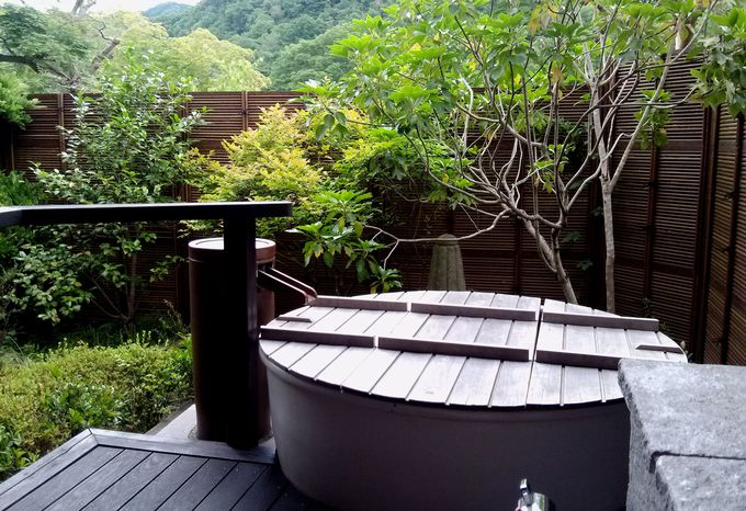 長生館の特別室といえば、露天風呂!