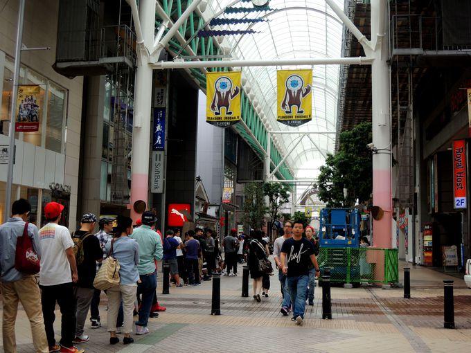 金蛇水神社分霊社は、東北最大級の商店街「仙台一番町商店街」にあり!