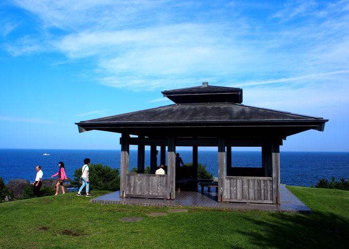 丘の上にある展望台から海を眺めよう
