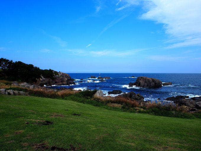 種差海岸の中央に位置する「種差天然芝生地」