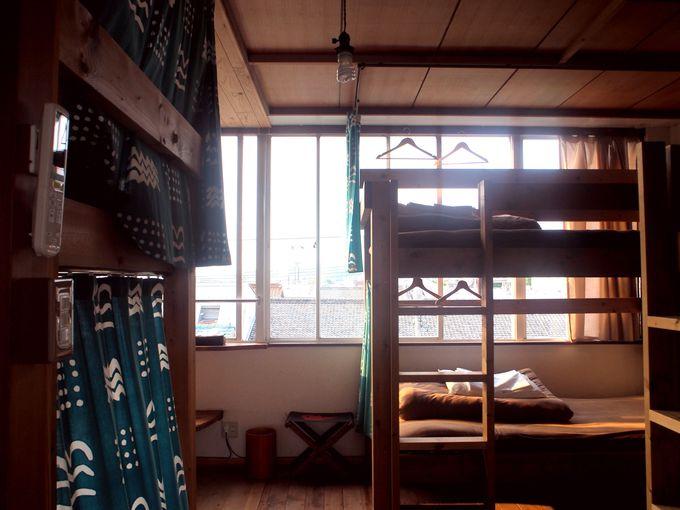 rucoの部屋はドミトリーと個室の2パターンあり