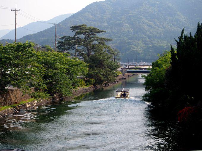 14時頃〜:「萩八景遊覧船」で水の上から萩城下町を眺める