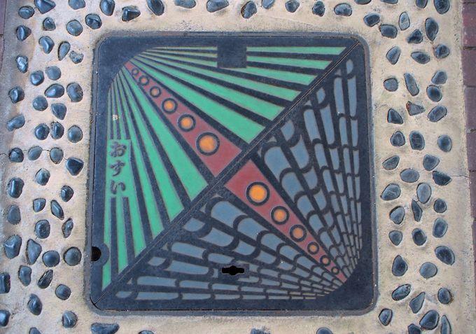 鴻池水みらいセンター下水道ふれあいプラザの貴重なマンホール蓋たち