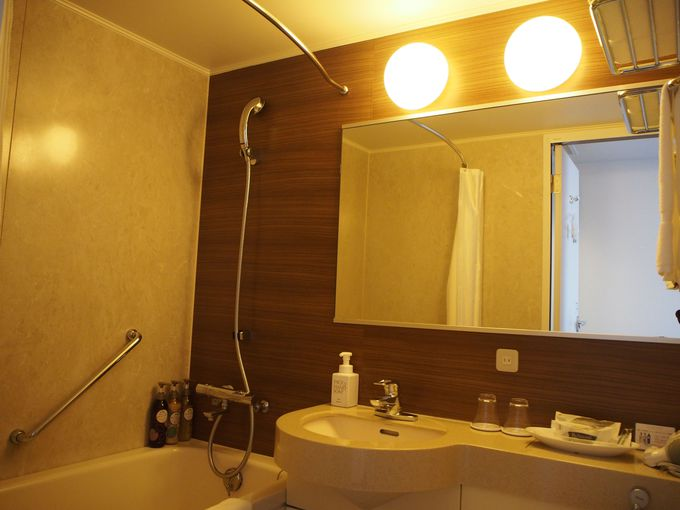 高級感あるバスルームに選べる充実のアメニティ